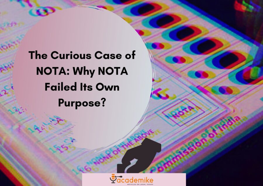 Why NOTA failed in India