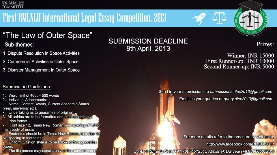 international law essay writing competition 2012
