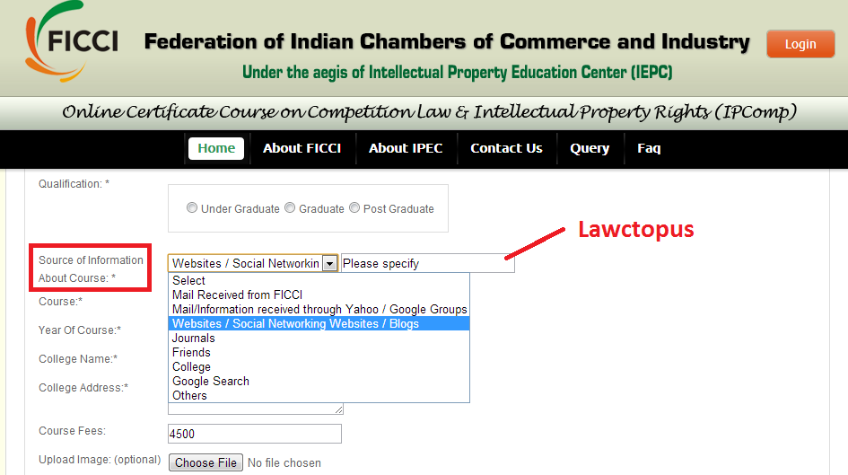 ficci ip and competition law course