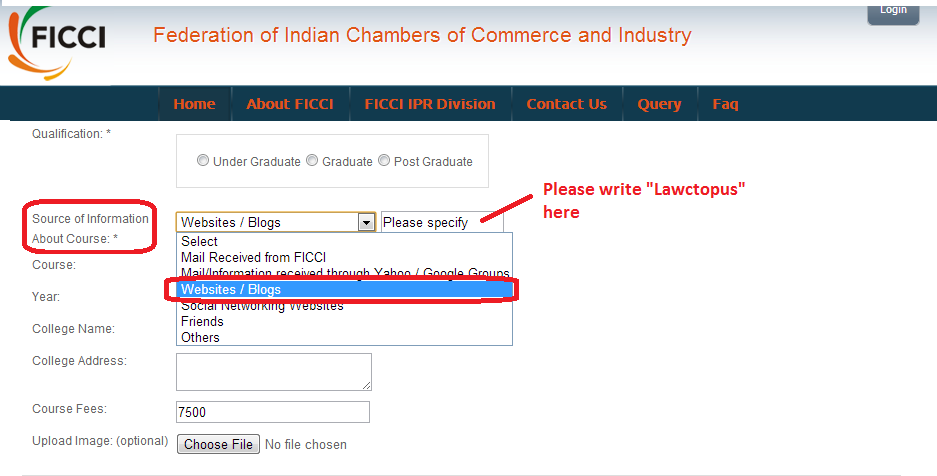 FICCI IP course, ficci ipr course, ficci intellectual property course