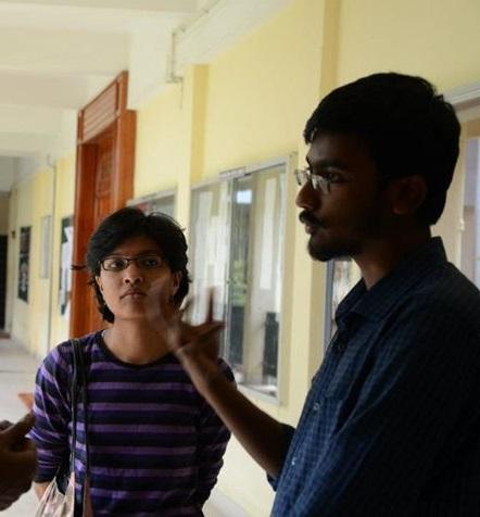 Sahana (left), Prem (right)