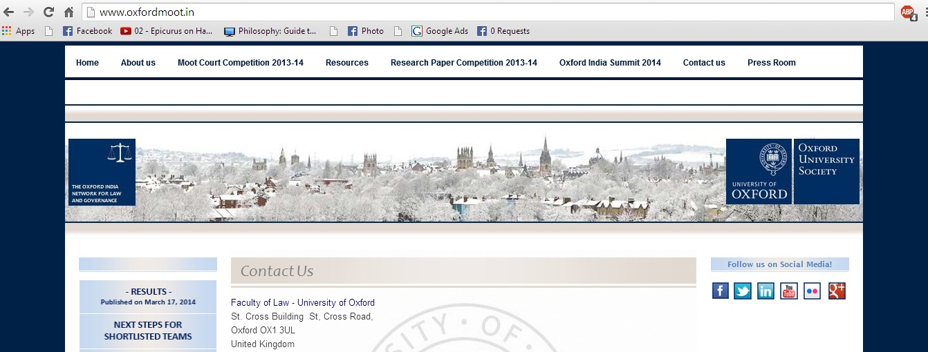 Oxford University India Moot Court Competition