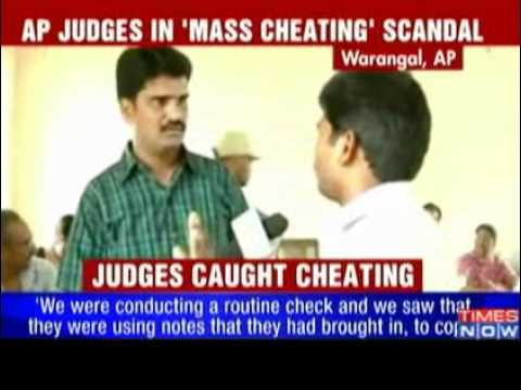 andhra judges cheating, llm exam