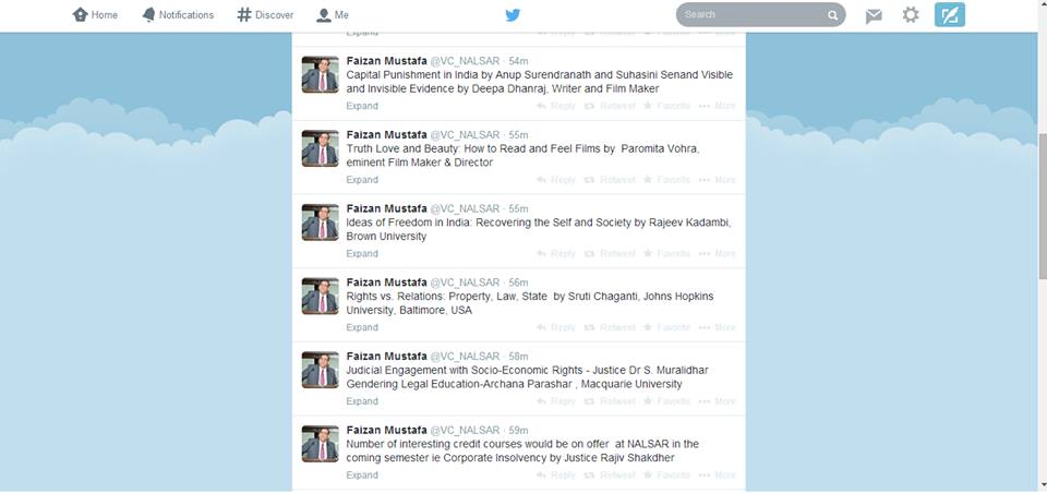 nalsar vc tweets exciting credit courses