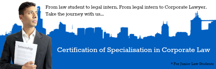 Certification of Specialisation in Corporate Law, mylaw, online law course, online legal course, corporate law course