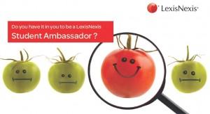 LexisNexis, Student Ambassador Programme, Opportunity