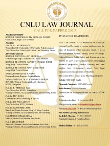 Call for papers, cnlu law journal, call for papers 2014