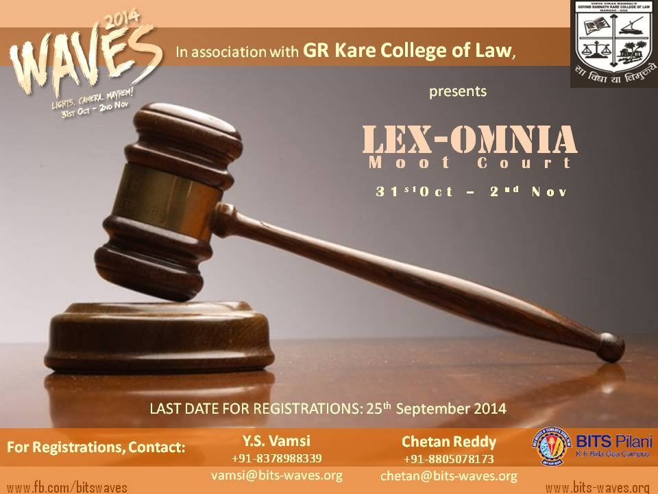Lex Omnia moot court competition, BITS Pilani Moot