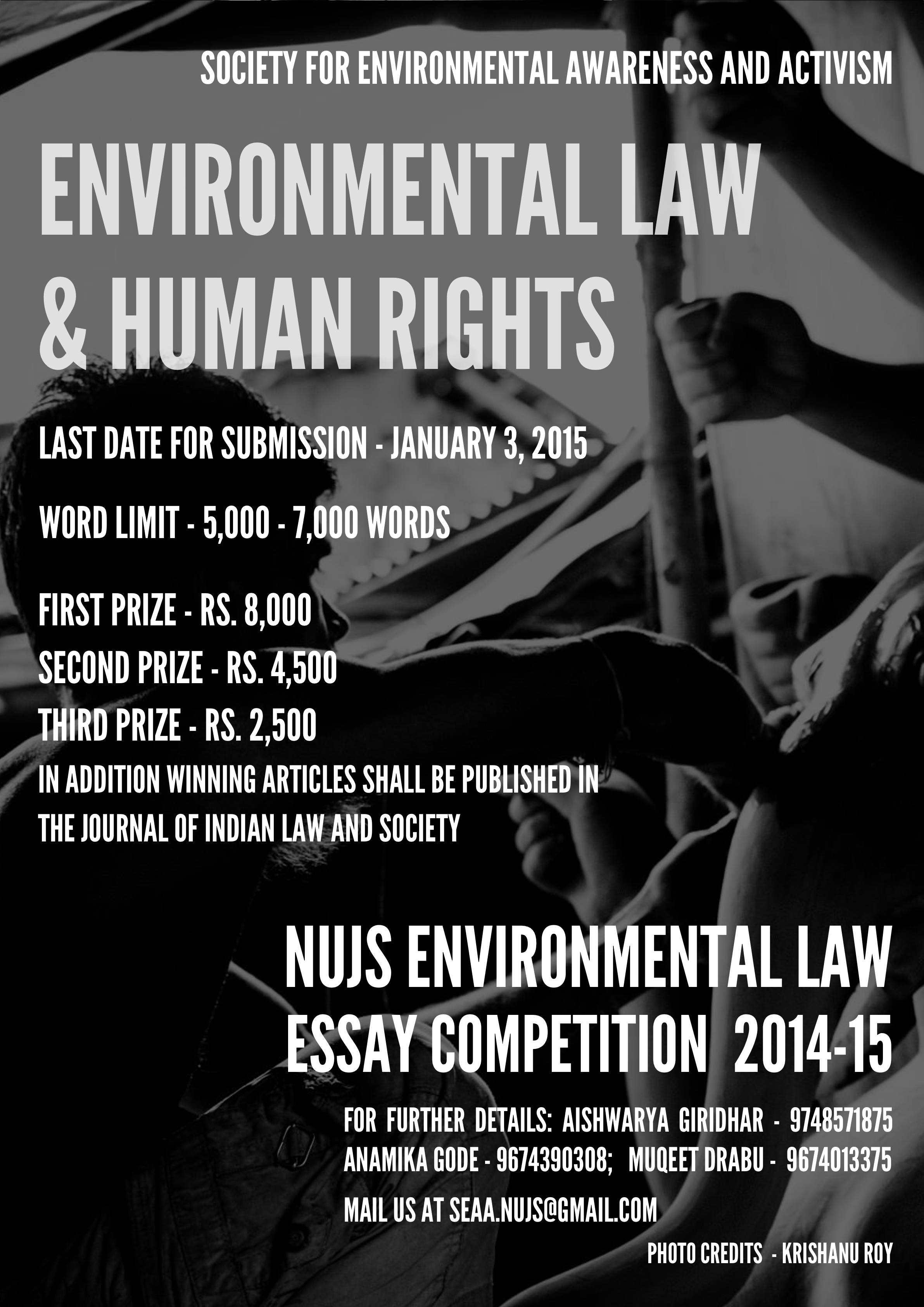 NUJS Environmental Law Essay Competition 2014-15