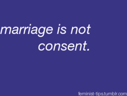 marriage is not consent