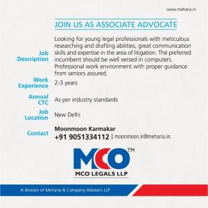 meharia and company job, law firm job