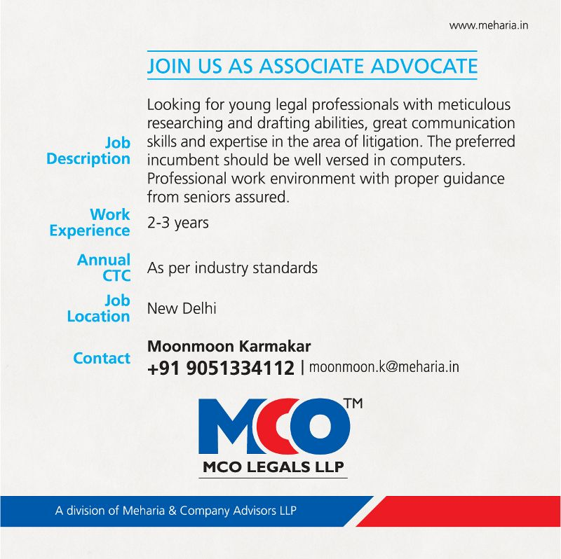 meharia and company job, law firm job