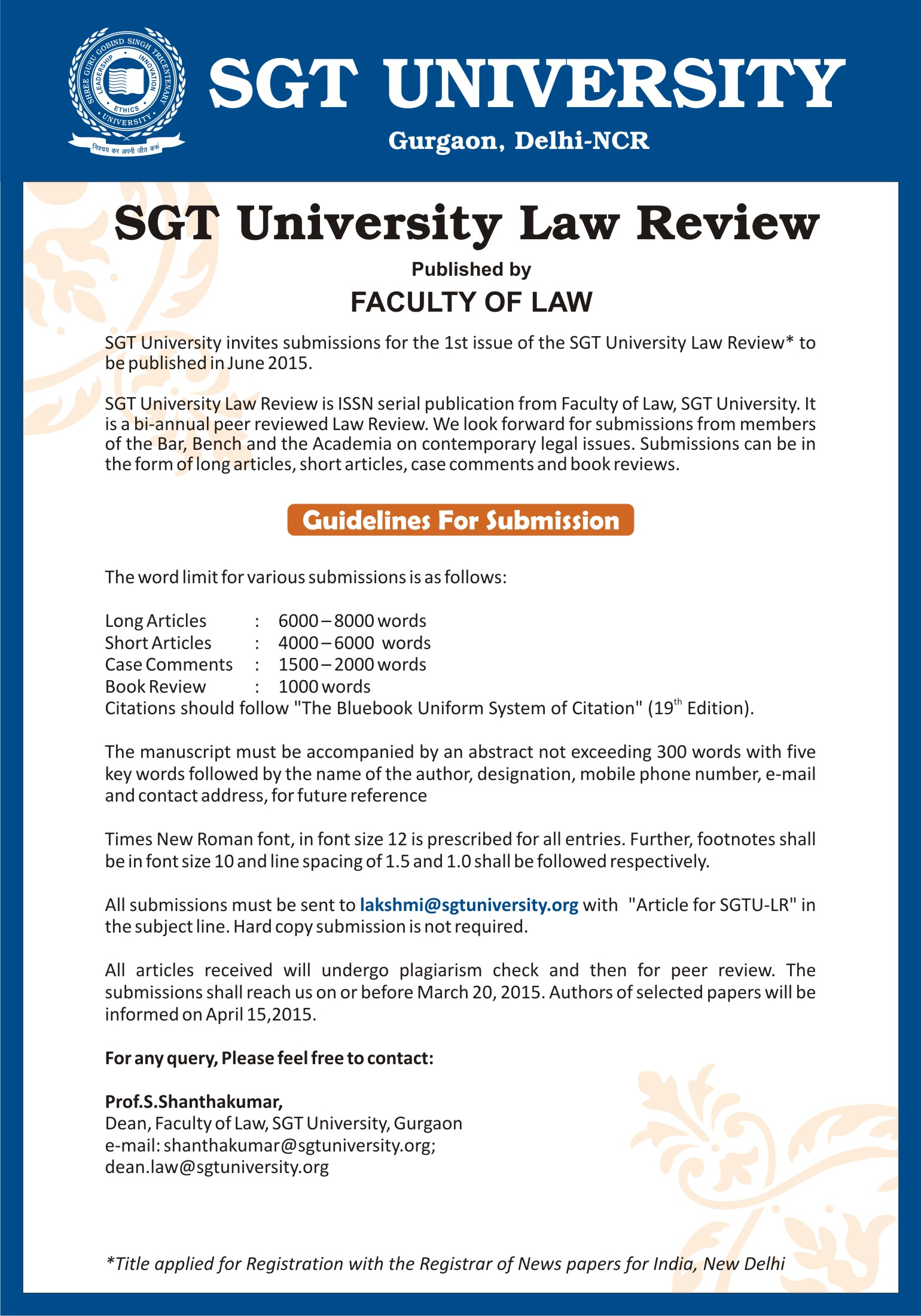 law foundation courses online publication of research papers