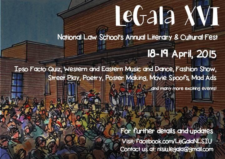 legala, nlsiu bangalore fest, law school fest, law student fest