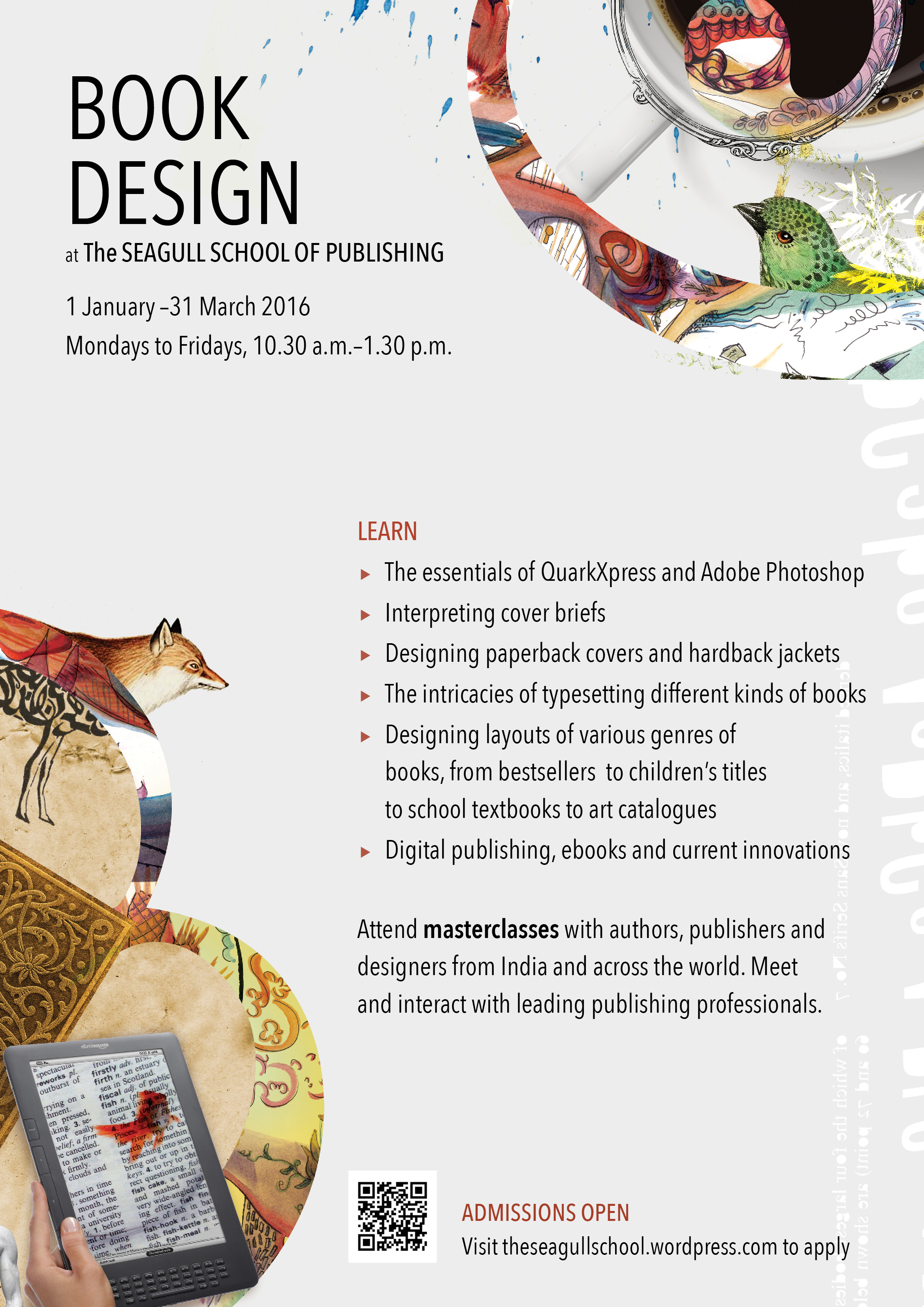 Learn the Art of Book Design and Editing from Leading Professionals @ Seagull School of Publishing: Admissions Open