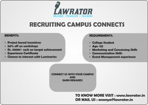 Lawrator Campus Connect Programme
