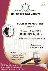 ULC Bangalore's 20th All India Moot Court Competition, 2016