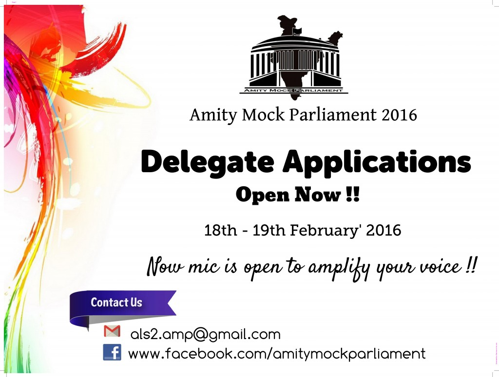 2nd Youth Parliament 2016, Amity Law School, Centre - II