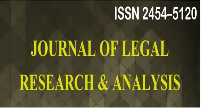 Call for Papers: Journal of Legal Research and Analysis