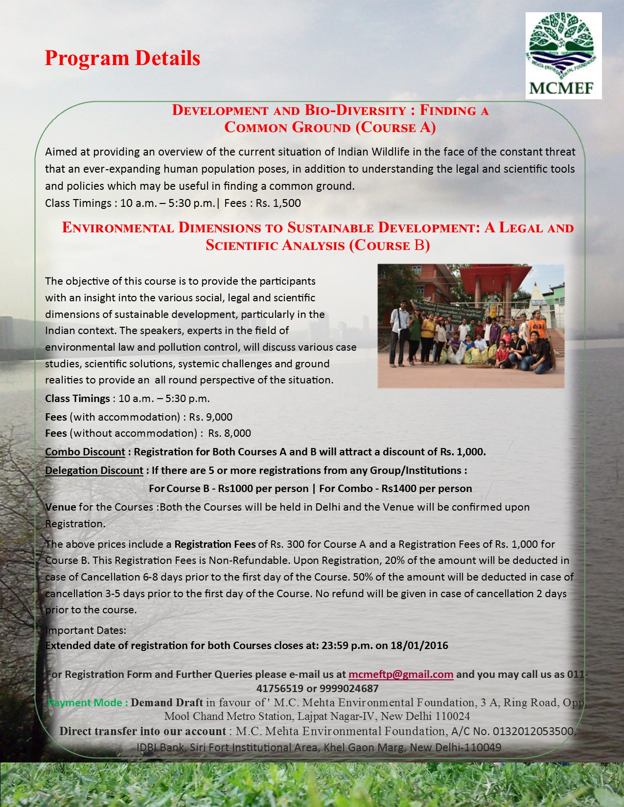 MCMEF Certificate Course