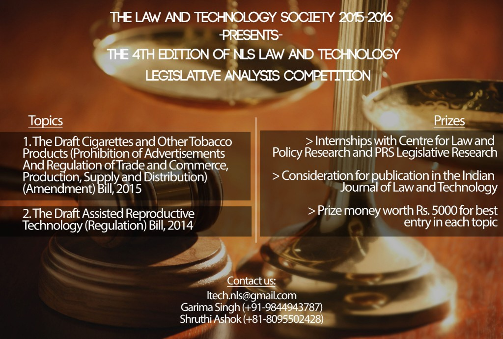 4th NLS Law and Technology Legislative Analysis Competition 2016