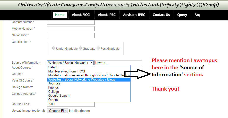 ficci ipr course, ficci competition law course, ficci online course