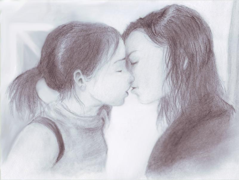girl girl kiss