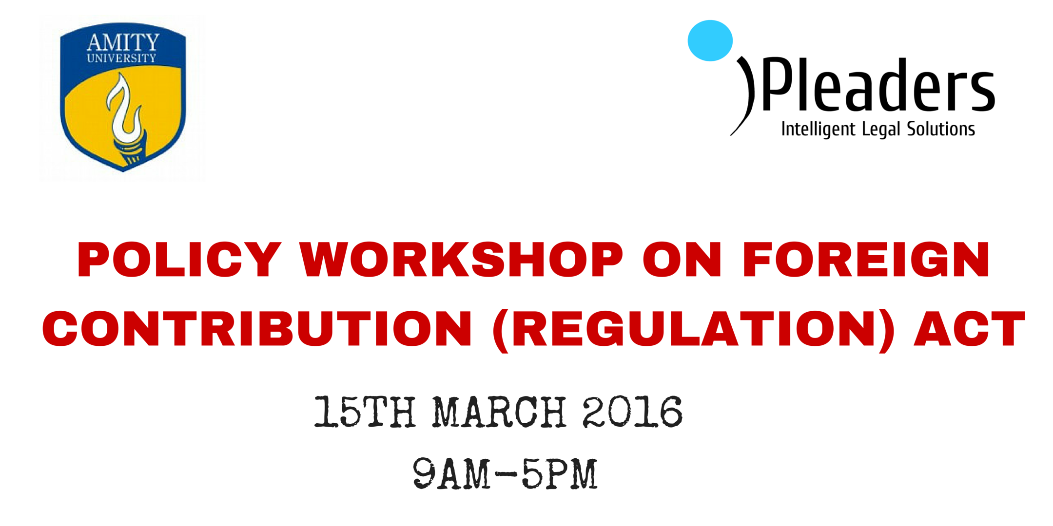 One-day Policy Workshop on Foreign Contribution Regulation Act