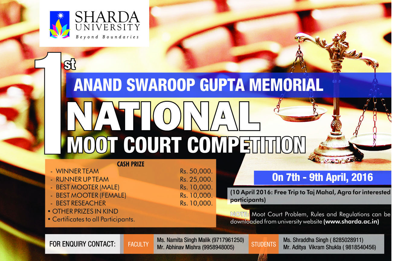 Anand Swaroop Gupta Memorial Moot Court Competition 2016