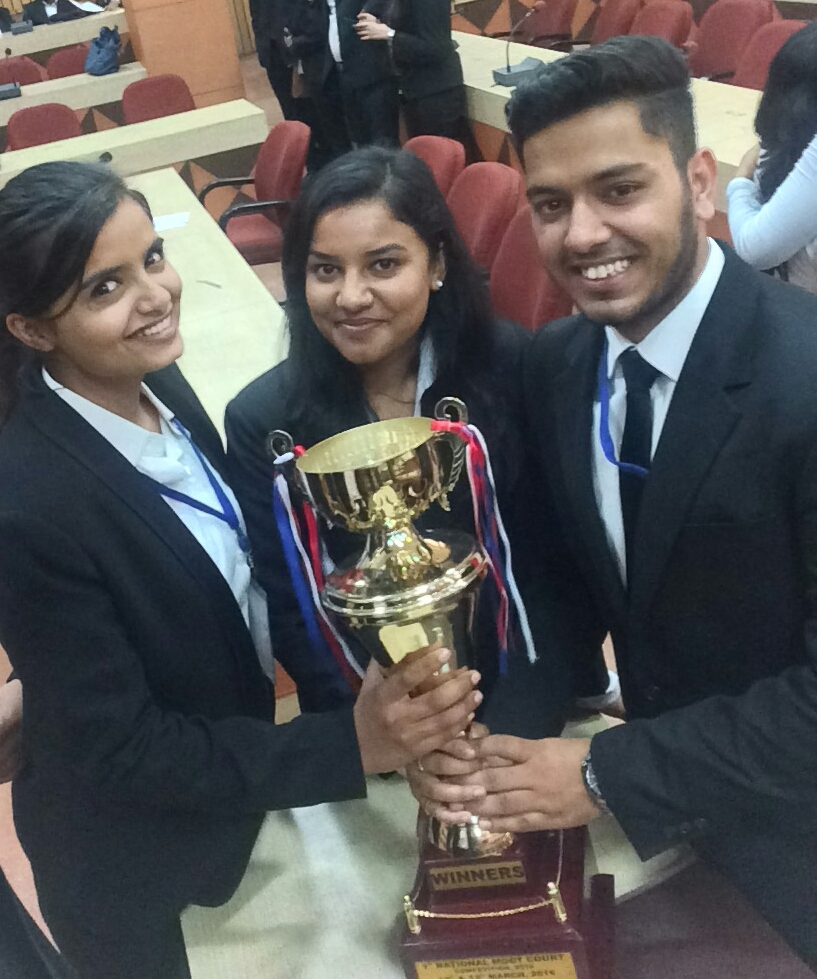 Interview: Winning Team [Delhi Metropolitan Education, GGSIPU, New Delhi] of Institute of Law, Kurukshetra University's 1st Moot 2016