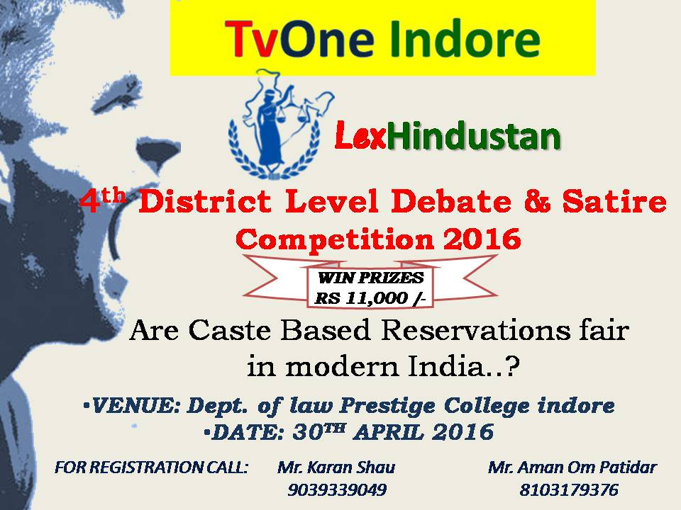 4th District Level Debate & Satire Competition 2016