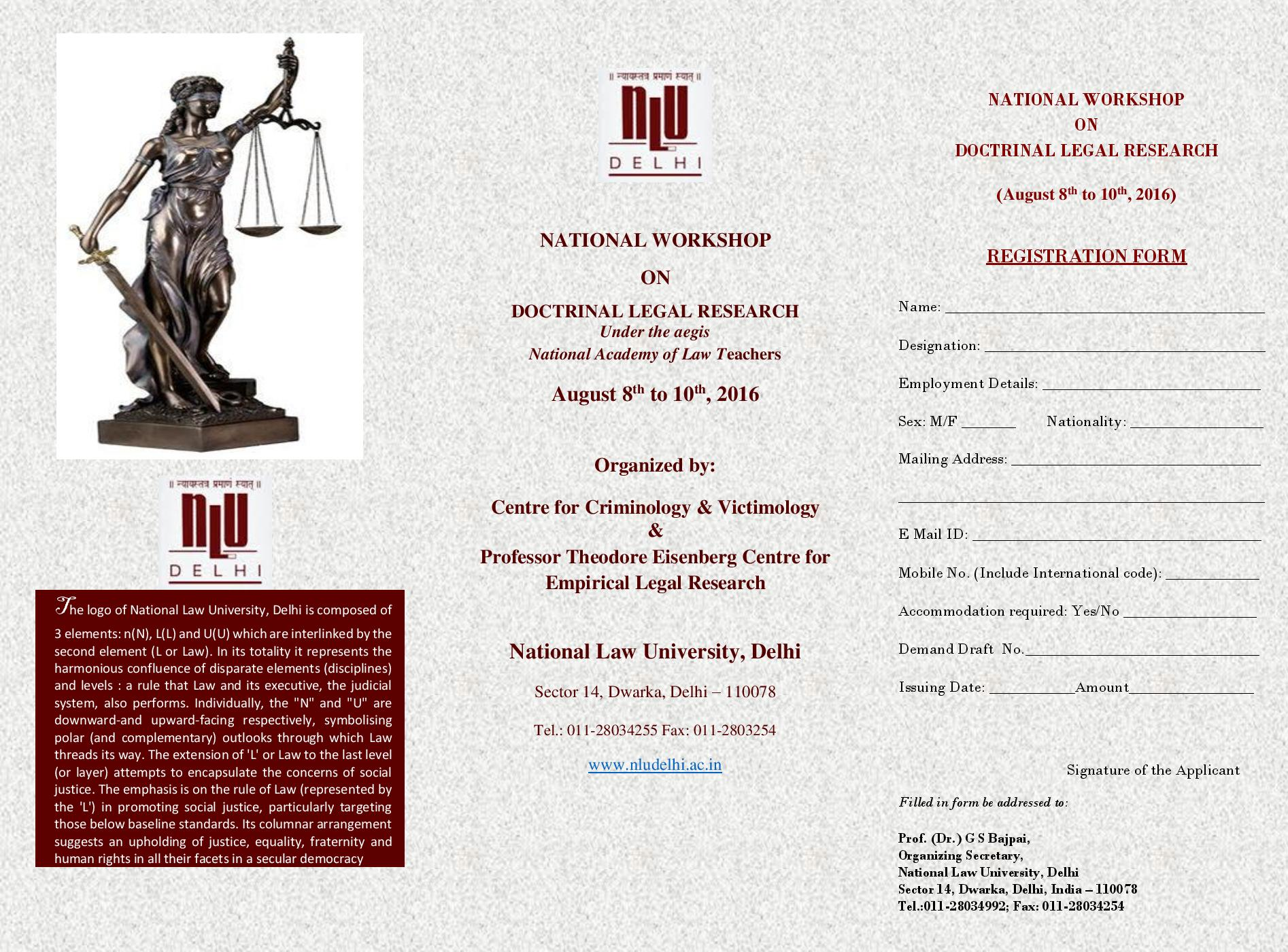 NLU Delhi's National Workshop on Doctrinal Legal Research