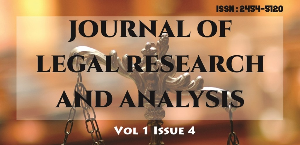 Call for Papers: Journal of Legal Research and Analysis [JLRA], Volume 1 Issue 4