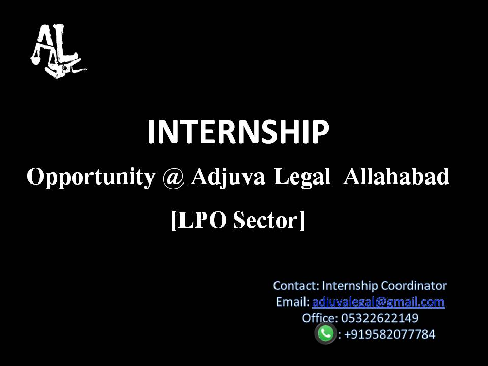 Internship Opportunity: Adjuva Legal Allahabad