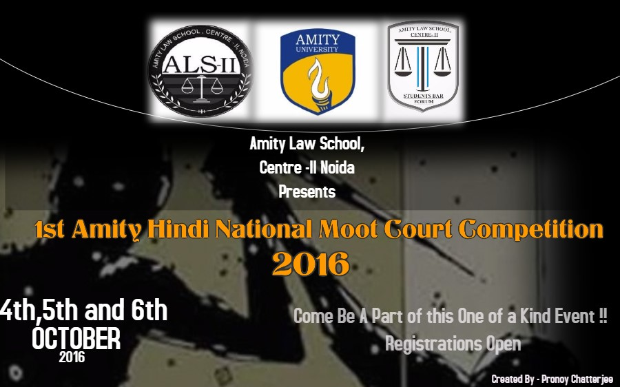 1st Amity National Hindi Moot Court Competition 2016