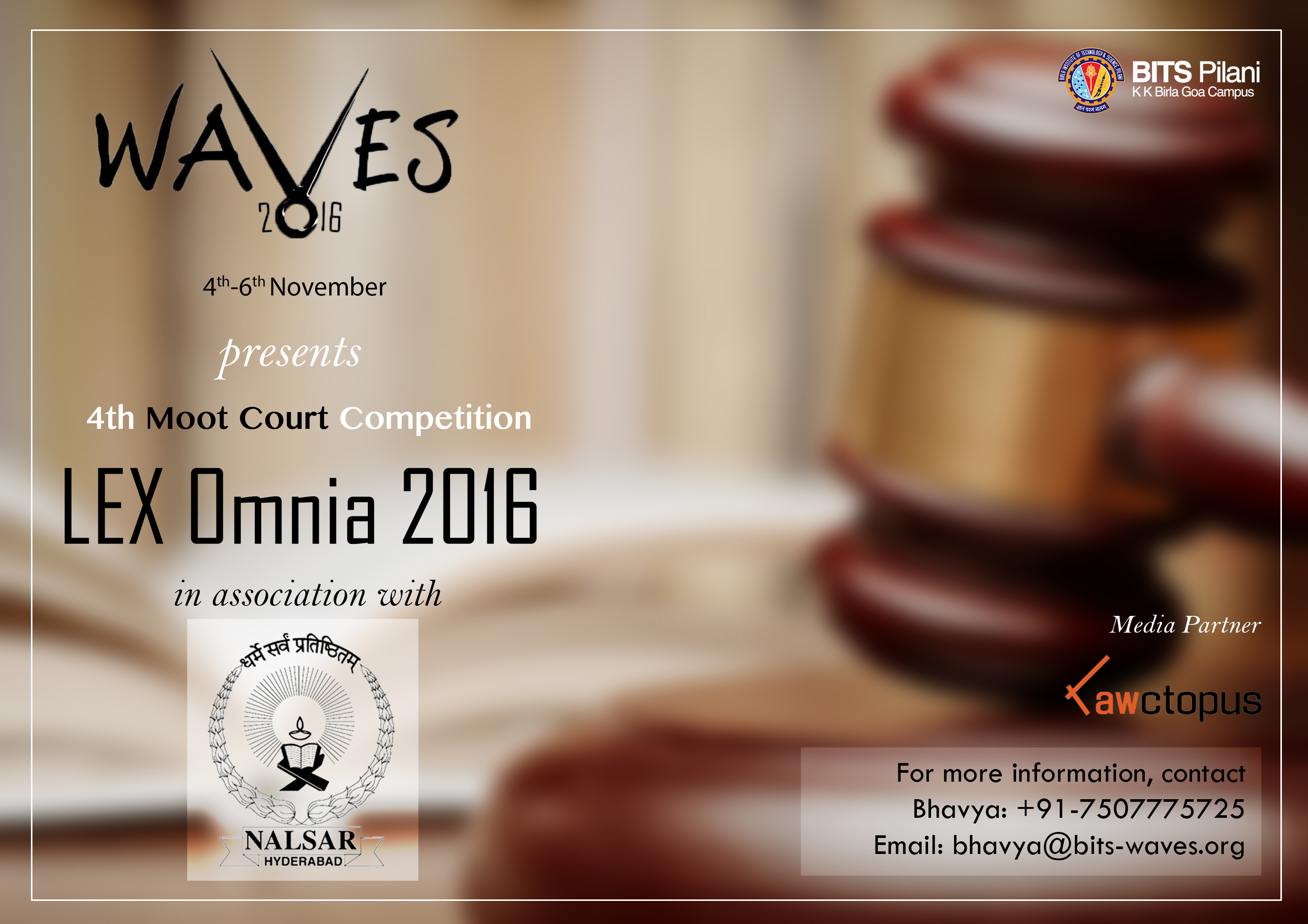 BITS Pilani's Lex Omnia National Moot Court Competition 2016