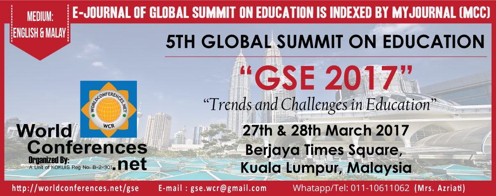 Call for Papers: 5th Global Summit on Education