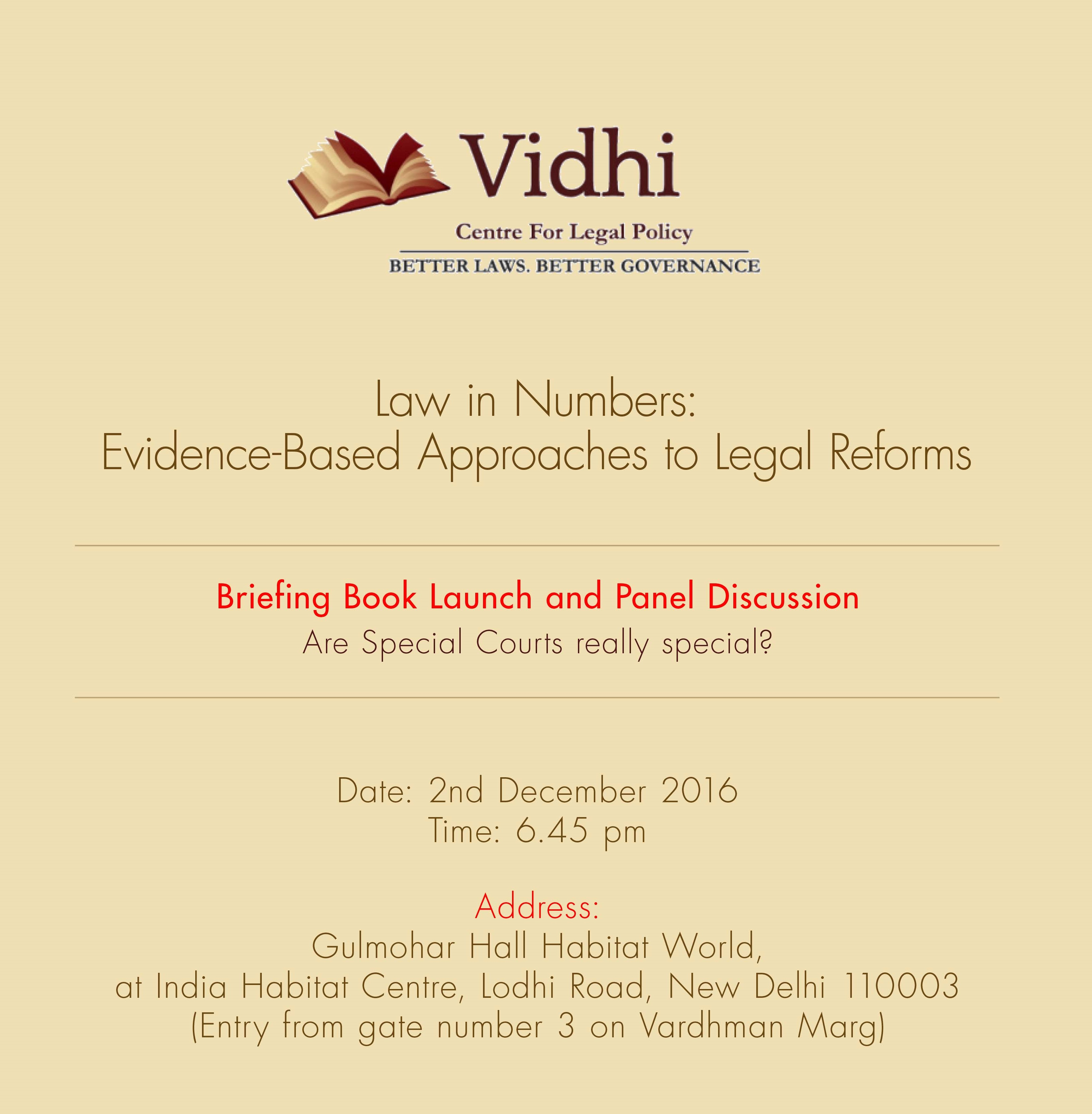 idhi Centre for Legal Policy's Conference on Law in Numbers: Evidence-Based Approaches to Legal Reforms