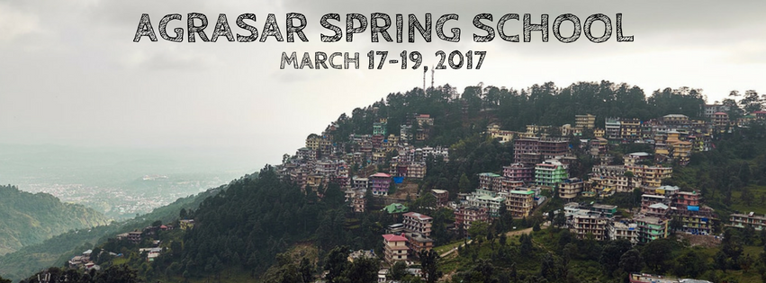 Call for Applications: Agrasar Spring School 2017