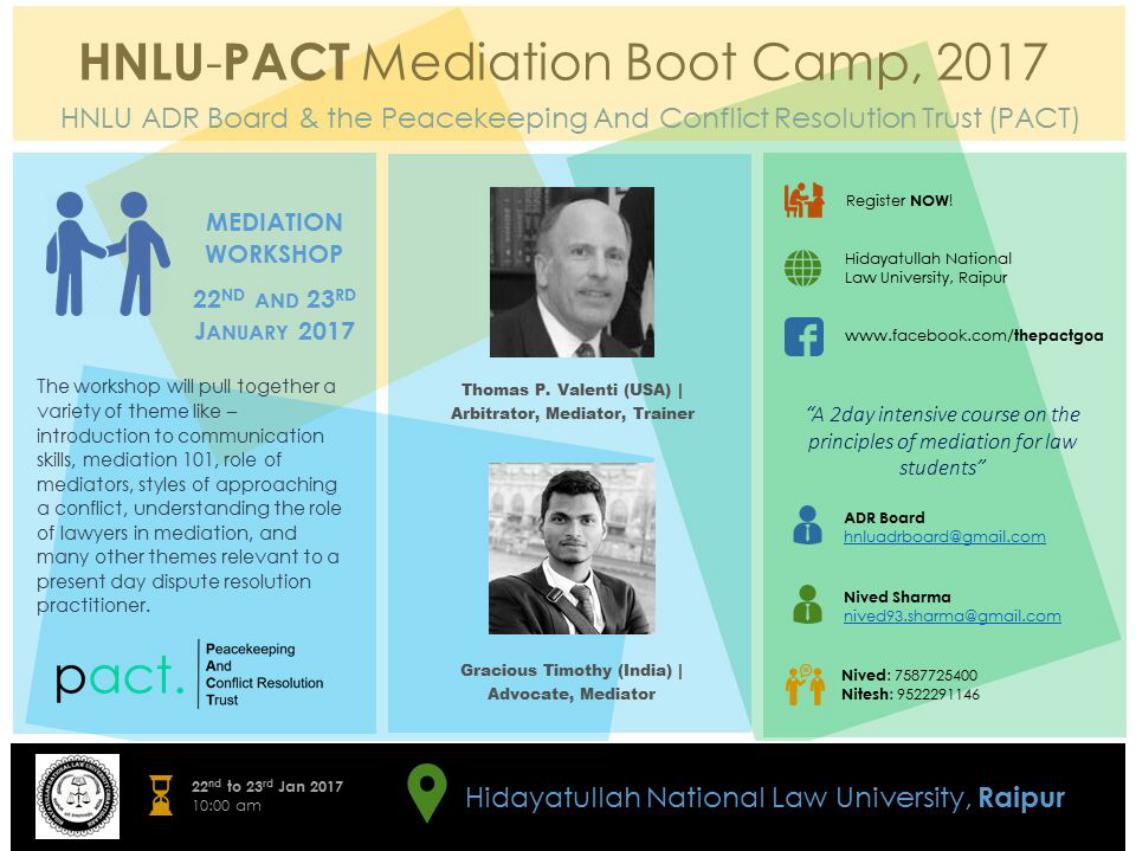HNLU Mediation Boot Camp