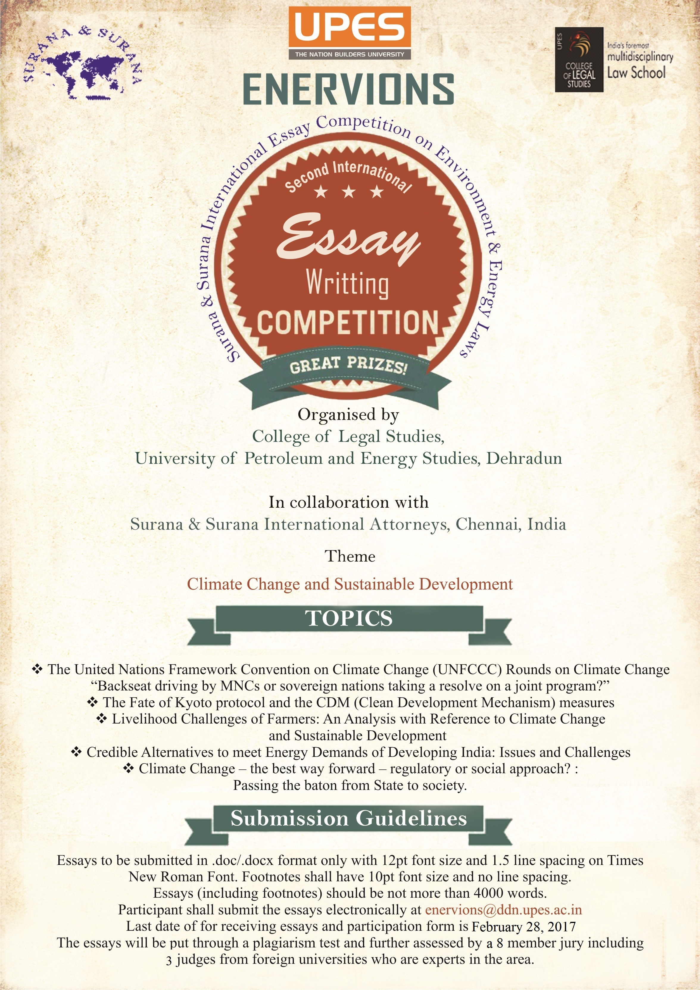 essay competitions archives page 2 of 14  upes 2nd enervions international essay writing competition prizes worth rs 77 000 submit by feb 28