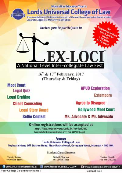 Lords Universal College of Law's National Law Fest Lex Loci