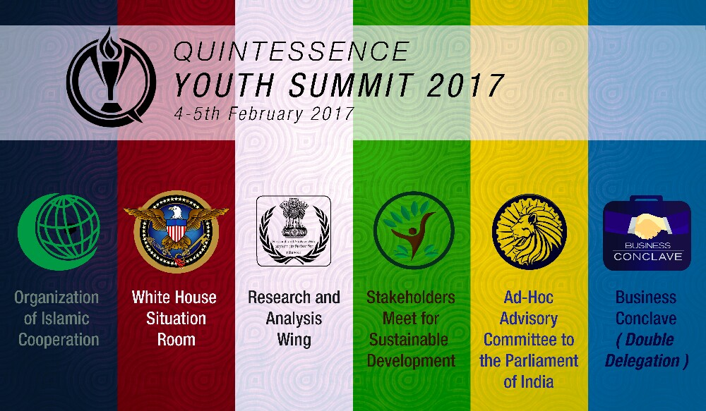 Quintessence Youth Summit 2017 [4-5 Feb, Delhi, MUN]: Register by Feb 2