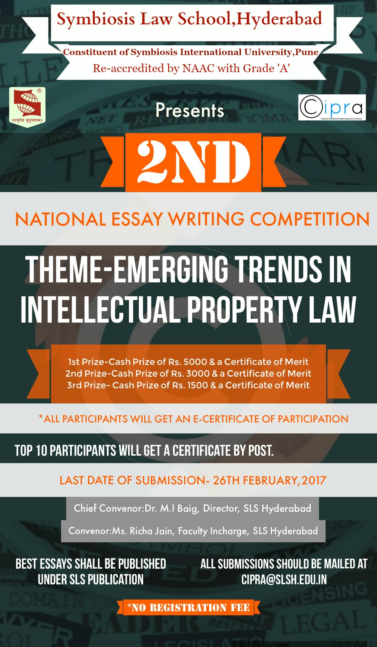 symbiosis law school hyderabad 2nd national essay writing 1