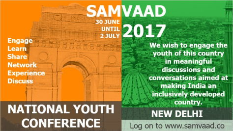 Call for Papers: National Youth Conference SAMVAAD 2017 [June 30-July 2, Delhi]: Submit by March 31
