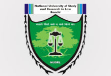 Teaching Job NUSRL Ranchi