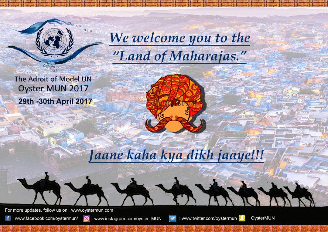 Oyster Model United Nations Conference 2017 [April 29-30, Jaipur, Rajasthan]