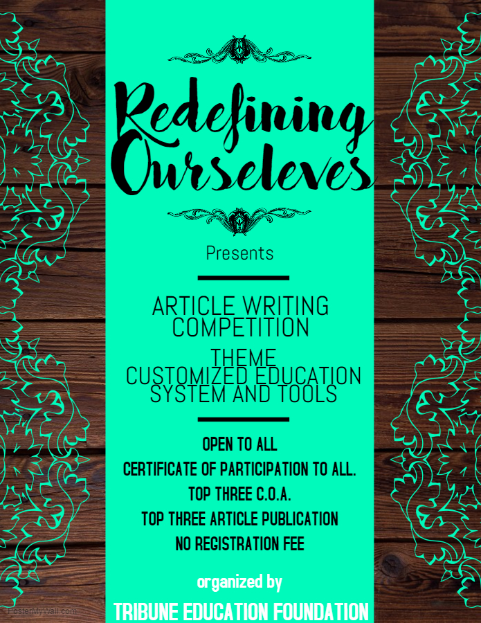 Tribune Education Foundation's Online Article Writing Competition: Register by June 25