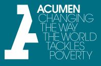 Acumen Fellowship 2018