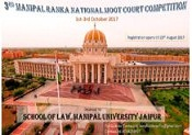 3rd Manipal Ranka National Moot Court Competition 2017